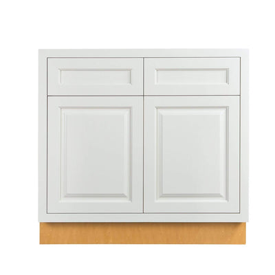 "Base Cabinet Sink Base Vintage White Inset Raised Panel Cabinets 33"", 36"", 42"" D5SB33 Inset Kitchen Cabinets"