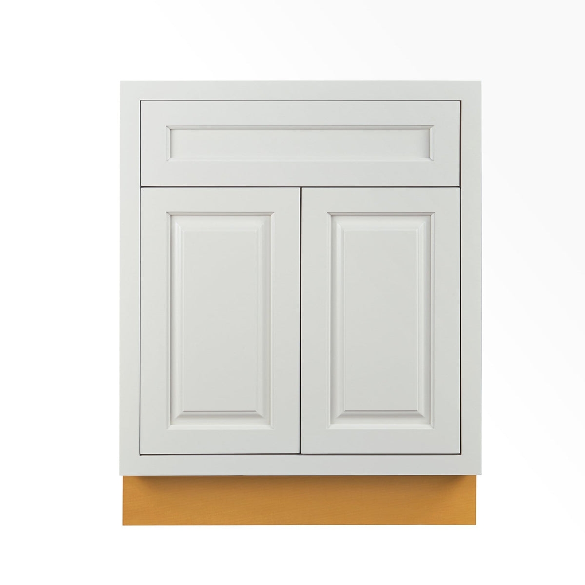 "Base Cabinet Vintage White Inset Raised Panel Base Cabinet - Double Door 24""-27"" Wide D5B24 Inset Kitchen Cabinets"
