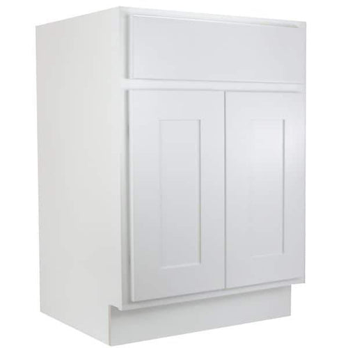 "Base Cabinet White Shaker Base Cabinet - Two Doors 24"", 27"", 30"", 33"", 36"" Inset Kitchen Cabinets"