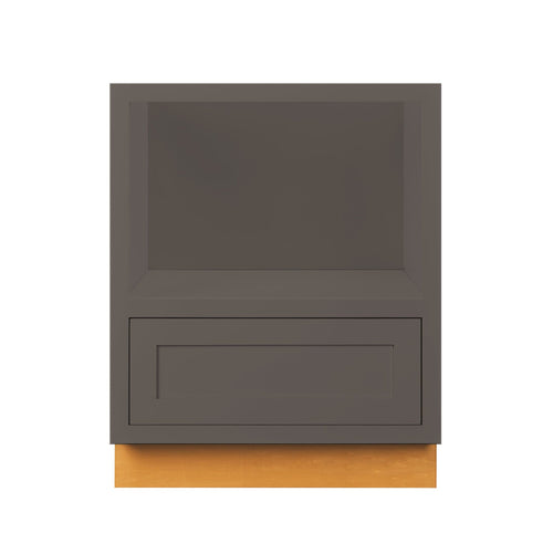 "Drawer Base Cabinet Dark Gray Inset Shaker Microwave Base Cabinet - 27"" D3BMC27 Inset Kitchen Cabinets"