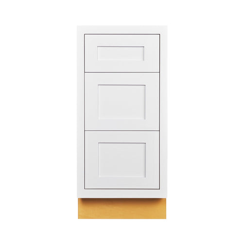 "Drawer Base Cabinet Snow White Shaker Inset Drawer Base Cabinet - 12"", 15"", 18"",21"", 24"" & 27"" Inset Kitchen Cabinets"