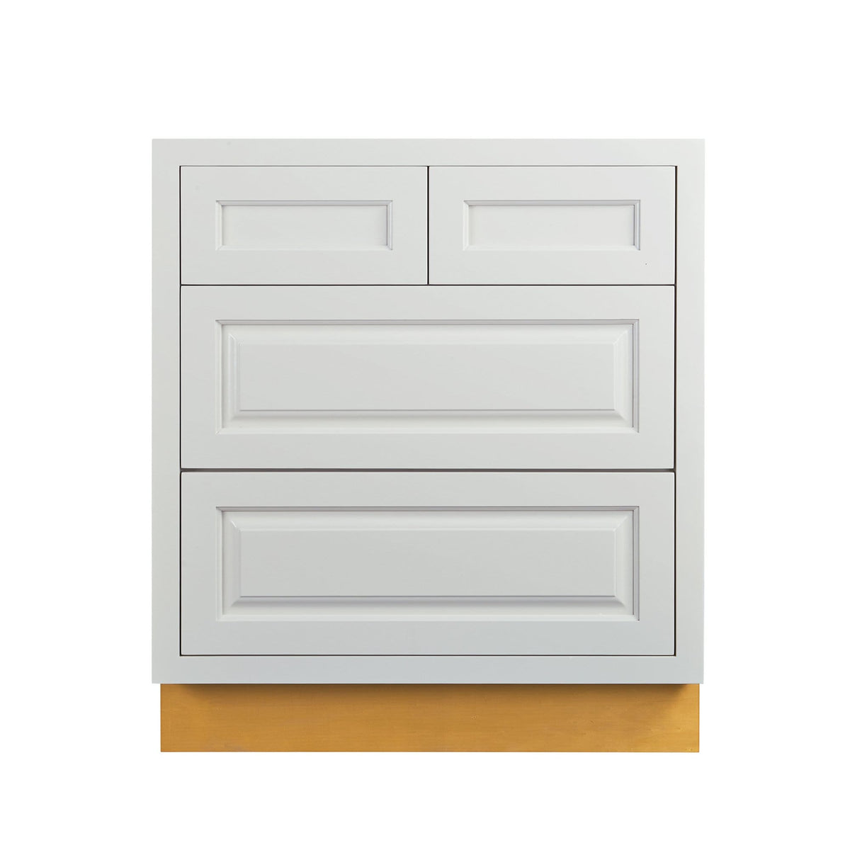 "Drawer Base Cabinet Vintage White Raised Panel Inset Drawer Base Cabinet - 30""- 33"" D5DB30 Inset Kitchen Cabinets"