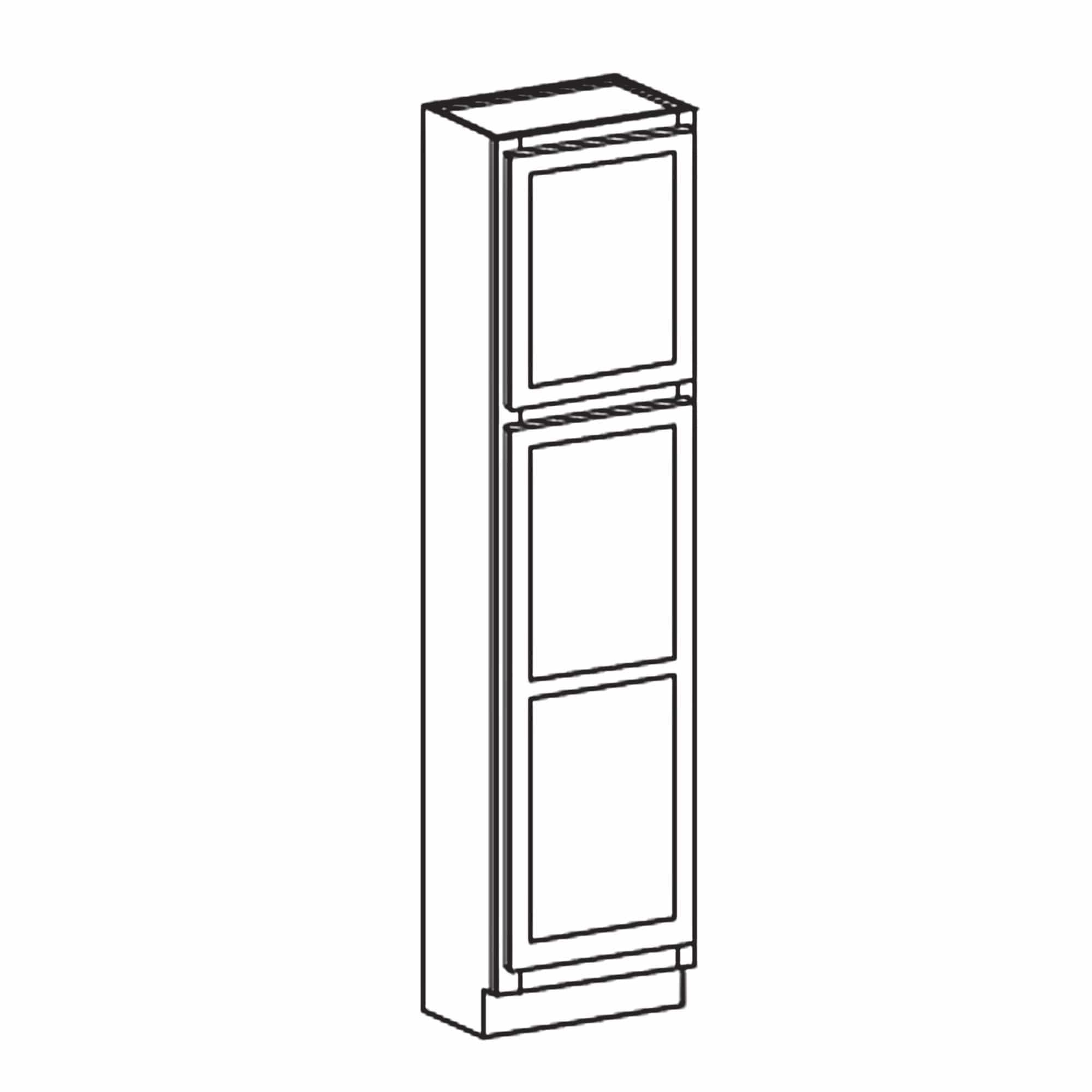 84 Tall Pantry White Shaker Cabinet Available 18 24 30 Wide