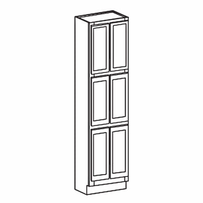 "Pantry Cabinet 84"" Tall Pantry White Shaker Cabinet Available 18"", 24"" & 30"" Wide WSPC2484 Inset Kitchen Cabinets"