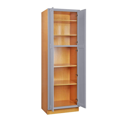 "Pantry Cabinet Pantry Light Gray Inset Shaker Cabinet 84"" Tall 24', 30"" & 36"" Wide Inset Kitchen Cabinets"