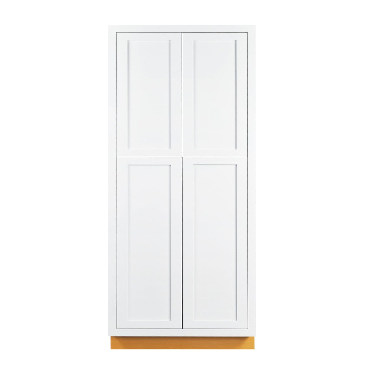 "Pantry Cabinet Pantry Snow White Inset Shaker Cabinet 93"" Tall 24"", 30"" & 36"" Wide D1PC3693 Inset Kitchen Cabinets"