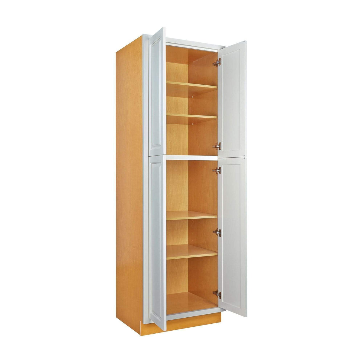 "Pantry Cabinet Pantry Vintage White Inset Raised Panel Cabinet 84"" Tall 24', 30"" & 36"" Wide Inset Kitchen Cabinets"