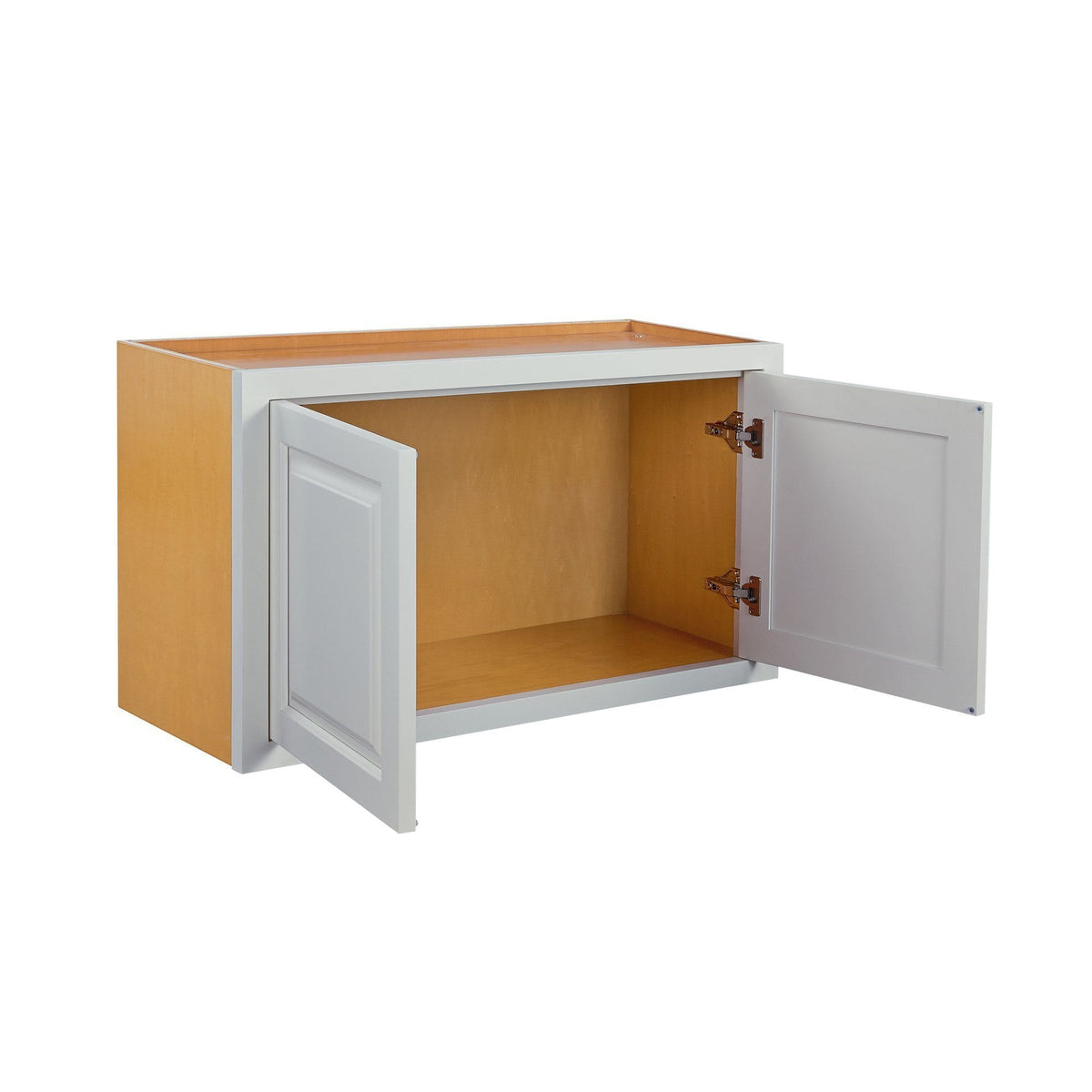 "Wall Cabinet 36"" Wide Bridge Vintage White Inset Raised Panel Wall Cabinet - Double Door 12"", 15"", 18"", 21""& 24"" Tall Inset Kitchen Cabinets"