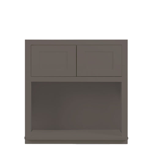 "Wall Cabinet Microwave Cabinet Dark Gray Shaker Wall Cabinet 27"" Wide 30"" & 39"" Tall Inset Kitchen Cabinets"