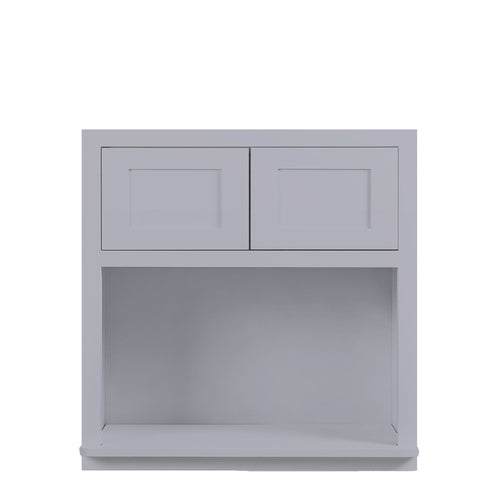 "Wall Cabinet Microwave Cabinet Light Gray Shaker Wall Cabinet 27"" Wide 30"" & 39"" Tall Inset Kitchen Cabinets"