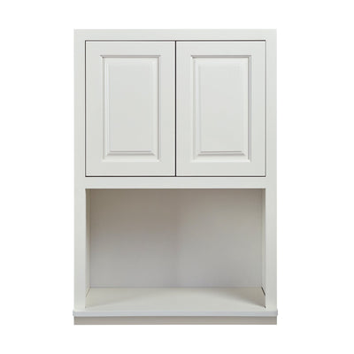 "Wall Cabinet Microwave Cabinet Vintage White Raised Panel Wall Cabinet 27"" Wide 30"" & 39"" Tall Inset Kitchen Cabinets"