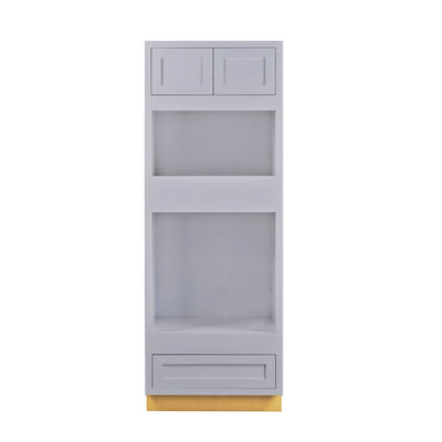 "Wall Oven Cabinet Wall Oven Light Gray Inset Shaker Cabinet 31"" Wide Inset Kitchen Cabinets"