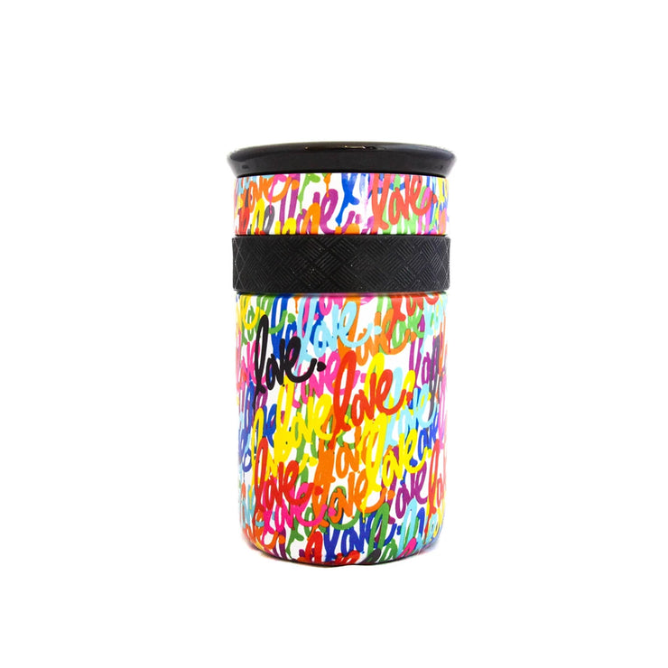 'Love' Tumbler 12oz - White