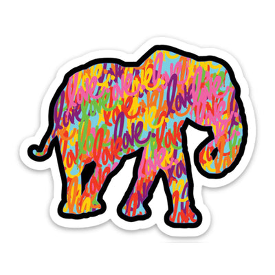 "Elephant ""Love"" Sticker"