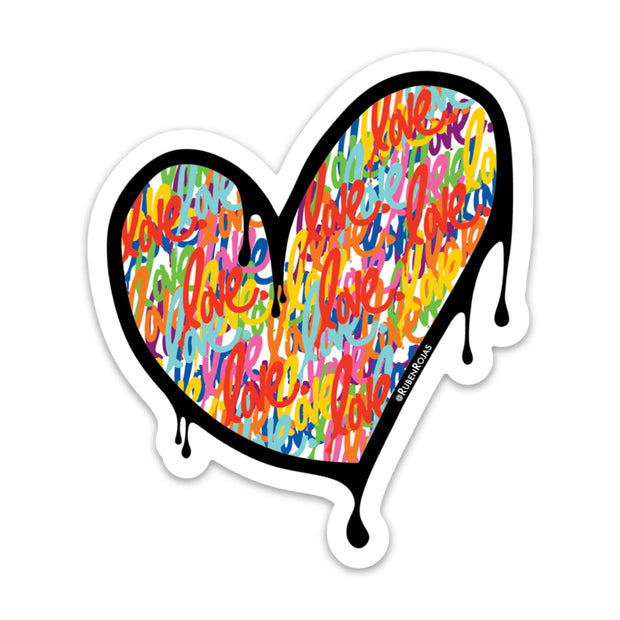 "Heart ""Love"" Sticker"