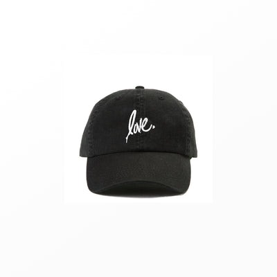'Love' Dad Hat - Black