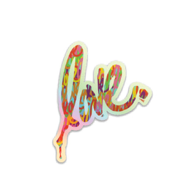 Mini Holographic Love Sticker
