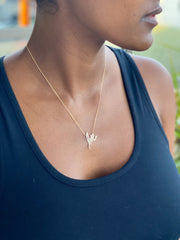 14k Gold Signature Love Necklace