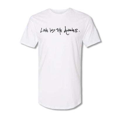'Love is the Answer' T-shirt White