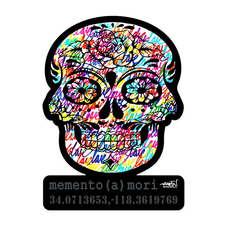 Memento Skull Sticker