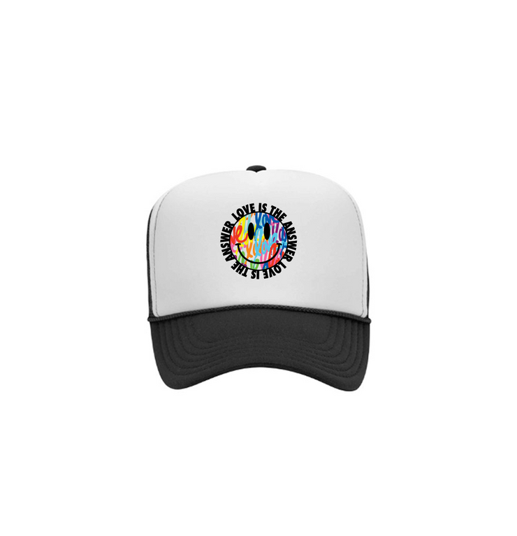 Smiley Face Trucker - Black