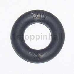 "7/16"" Black Rubber Ring"