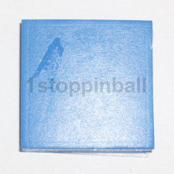 "1"" Square Blue Rubber Pad With Adhesive Backing"