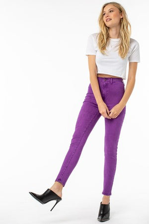 Neon is Now High-Waisted Purple Jeans