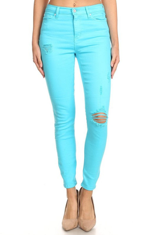 Neon is Now Bright Blue High-Rise Jeans