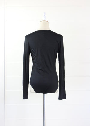 Simply Sexy Long Sleeved V-Neck Bamboo Bodysuit