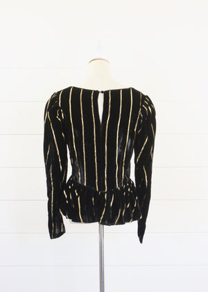Black Velvet Top New with Tags