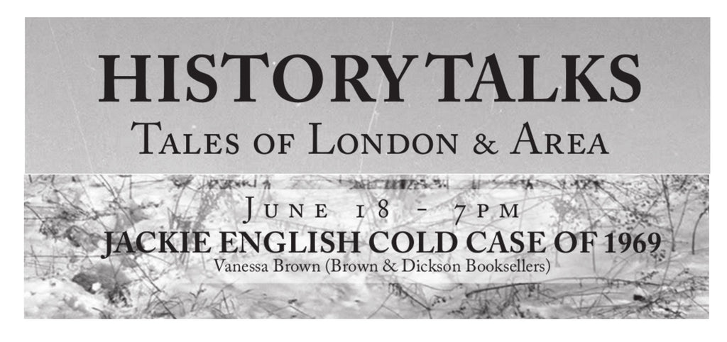 History Talks: Jackie English Cold Case Presentation