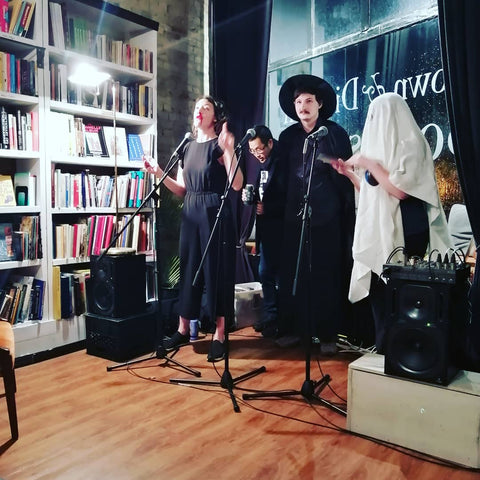Punfest Puners Perform at Brown and Dickson Bookstore