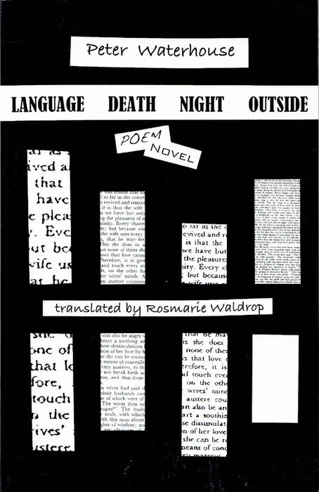 Language Death Night Outside: Poem Novel by Peter Waterhouse