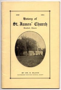 Brown & Dickson Book History of St. James' Church, Stratford, Ontario, Canada