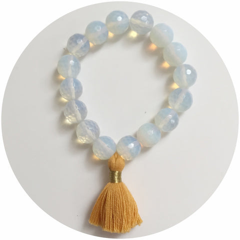 Opalite with Buttercup Tassel