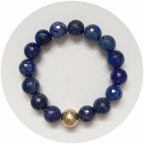Lapis with Hammered Gold Accent