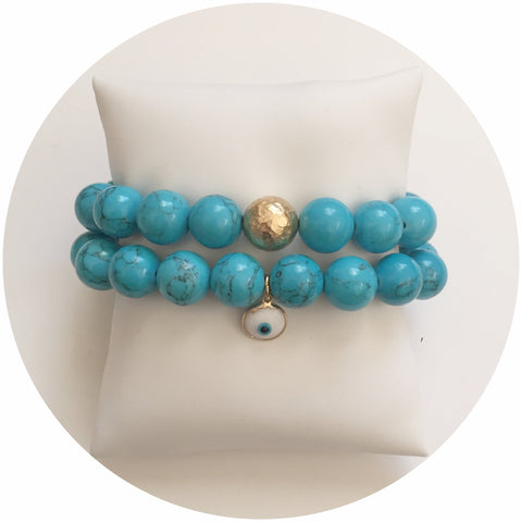 Blue Howlite Color Stax