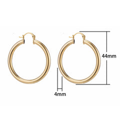 Medium Chunky Gold Filled Hoops - Oriana Lamarca LLC