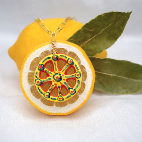 Sicilian Cart Wheel Necklace