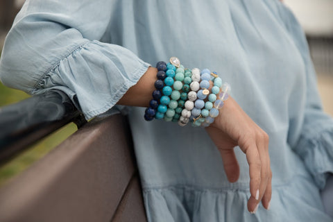 Blue Ombré Arm Party