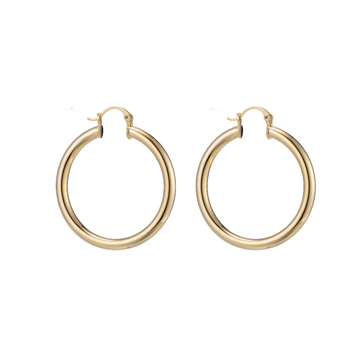 Small Chunky Gold Filled Hoops - Oriana Lamarca LLC