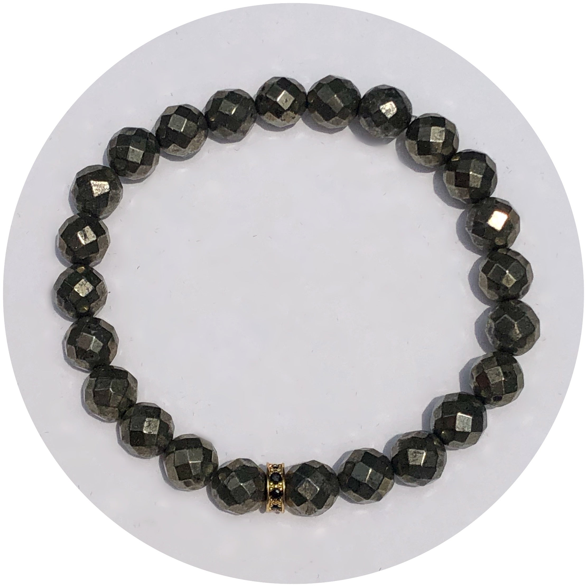 Mens Pyrite with Black Pavé Accent