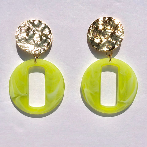 Kelsey Green Acrylic Earrings