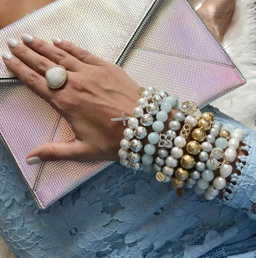 EJ X OL Freshwater Pearls with Barrel - Oriana Lamarca LLC