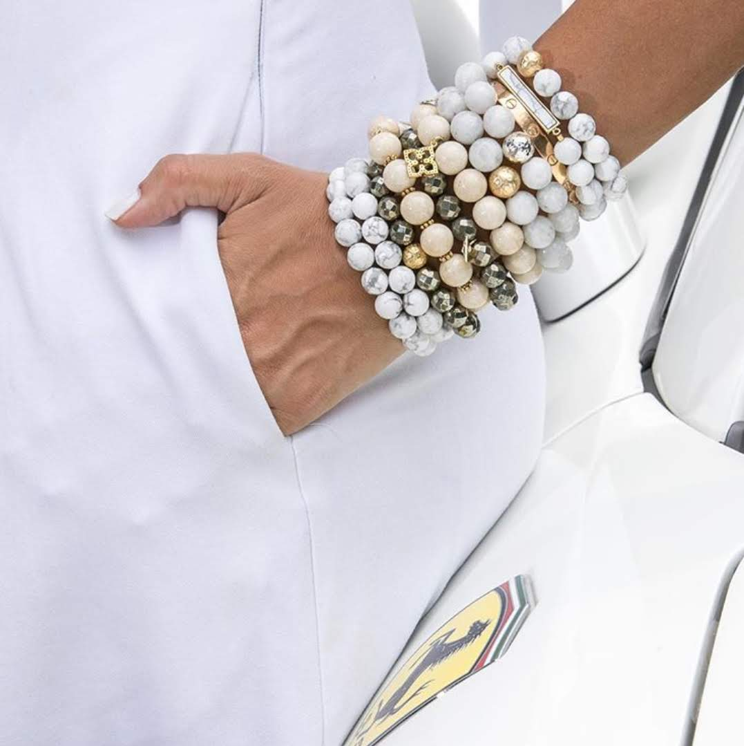 Freshwater Pearls with Gunmetal Pavé Accent - Oriana Lamarca LLC
