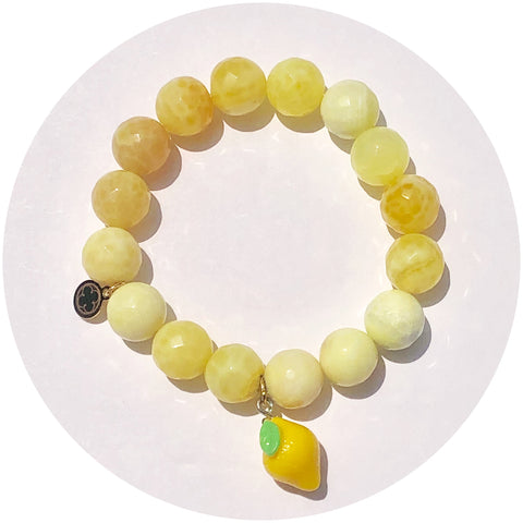 Yellow Agate with Lemon Pendant