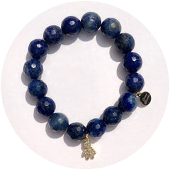 Lapis with Gold Pavé Little Boy Pendant - Oriana Lamarca LLC
