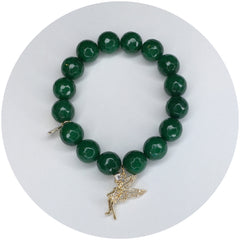 Emerald Green Jade with Pavé Tinkerbell - Oriana Lamarca LLC