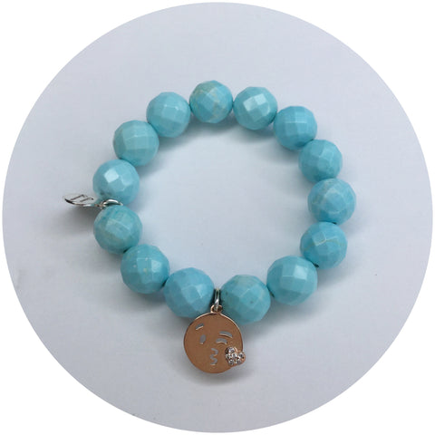 "Children's Light Turquoise Magnesite ""Sweet Kisses"""